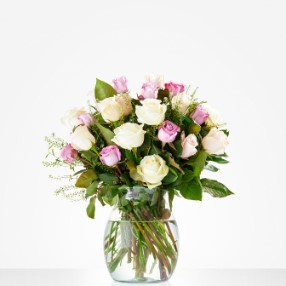Pink-White Roses bouq